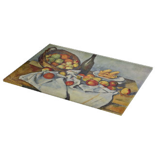 The Basket of Apples by Paul Cezanne Cutting Board