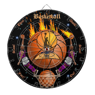 The Basketball Fiery Slam Dunk Dartboard
