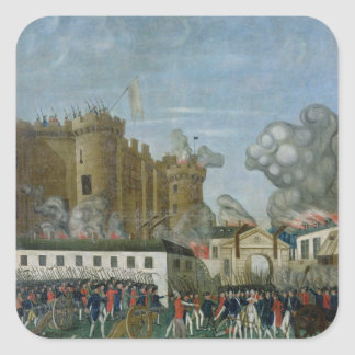 The Bastille Prison, 14th July 1789 Square Sticker