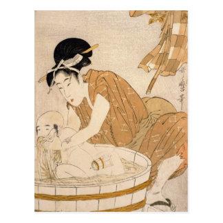 The Bath, Edo period Postcard