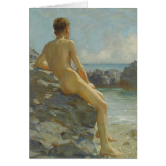 The Bather by Henry Scott Tuke Card