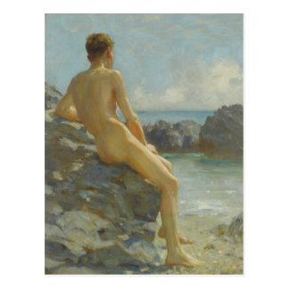 The Bather by Henry Scott Tuke Postcard