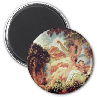 The Bathers By Fragonard, Jean-Honoré (Best Qualit Magnet