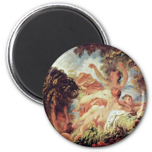 The Bathers By Fragonard, Jean-Honoré (Best Qualit Refrigerator Magnet