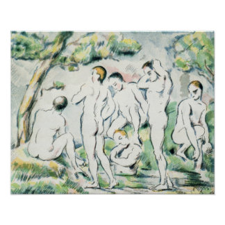 The Bathers, Small plate Poster