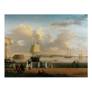 The Battery and Harbor - New York 1811 Postcard