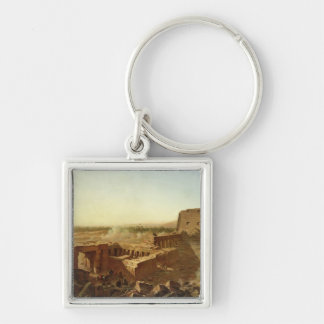 The Battle at the Temple of Karnak Silver-Colored Square Keychain