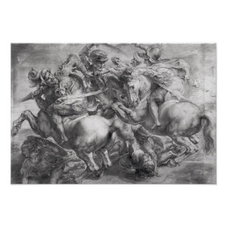 The Battle of Anghiari after Leonardo da Vinci Poster