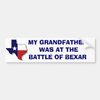 THE BATTLE OF BEXAR BUMPER STICKER