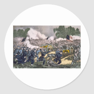 The battle of Gettysburg, Pa. July 3d. 1863 Classic Round Sticker