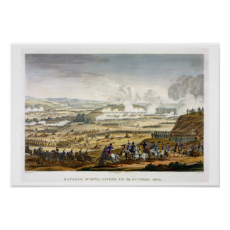 The Battle of Jena, 14 October 1806, engraved by E Poster