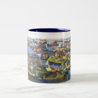 The Battle of Lepanto 1571 Two-Tone Coffee Mug