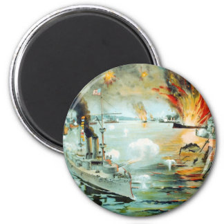 The Battle of Manila Bay Spanish American War 2 Inch Round Magnet