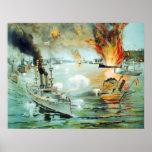 The Battle of Manila Bay Spanish American War Poster