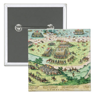 The Battle of Moncontour, 3rd October 1569 2 Inch Square Button