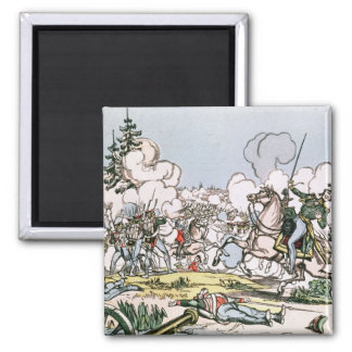 The Battle of Moscow, 7th September 1812 Square Magnet