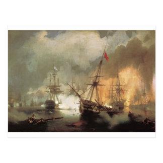 The Battle of Navarino by Ivan Aivazovsky Postcard