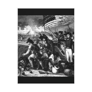 The Battle of New Orleans. January 1815_War Image Canvas Print