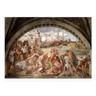The Battle of Ostia by Raphael Postcard