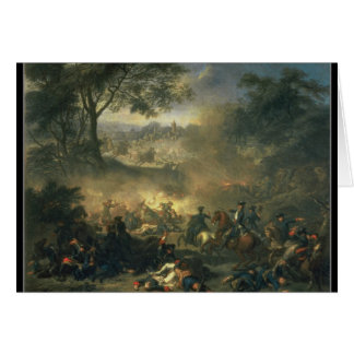 The Battle of Poltava in 1709, 1717 Card