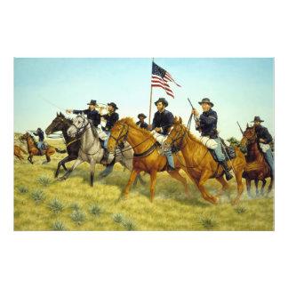 The Battle of Prairie Dog Creek by Ralph Heinz Photo Print