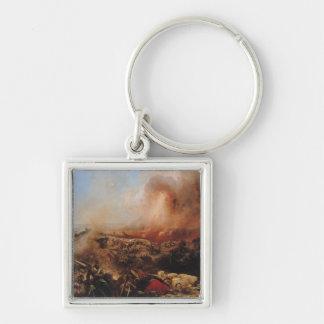The Battle of Sebastopol Silver-Colored Square Keychain
