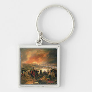 The Battle of Smolensk, 17th August 1812, 1839 Silver-Colored Square Keychain