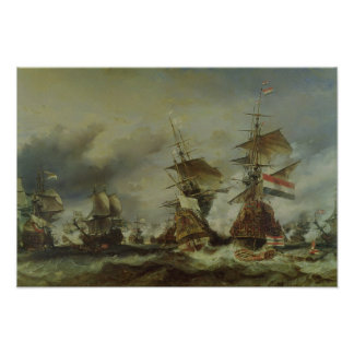 The Battle of Texel, 29 June 1694 Poster
