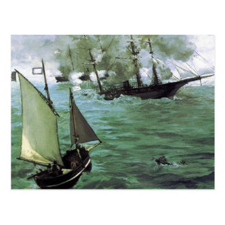 The Battle of the Kearsarge and the Alabama Postcard