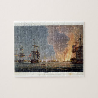 The Battle of the Nile, 1st August 1798, engraved Jigsaw Puzzle