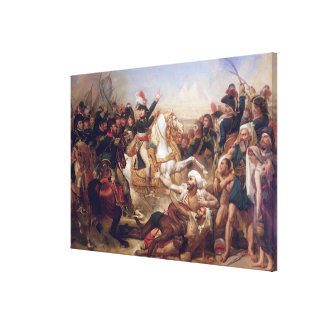 The Battle of the Pyramids, 21st July 1798 Canvas Print