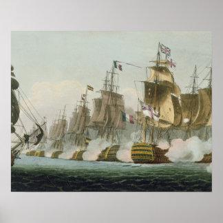 The Battle of Trafalgar, 21st October 1805, engrav Poster
