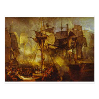 The Battle of Trafalgar, as Seen from the Mizen Postcard