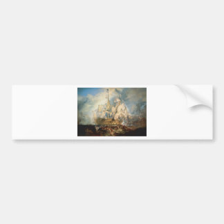 The Battle of Trafalgar by William Turner Bumper Sticker