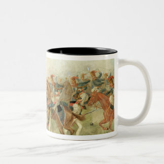 The Battle of Vitoria, June 21st 1813 (w/c on pape Two-Tone Coffee Mug