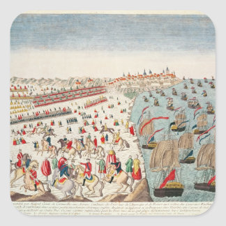 The Battle of Yorktown, 19th October 1781 Square Sticker