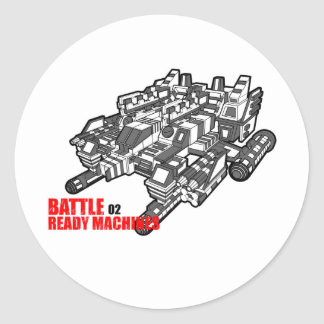 The Battle Ready Machines Second design Classic Round Sticker