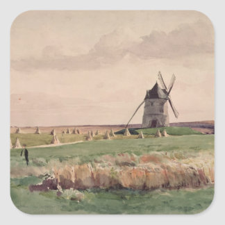 The Battlefield of Crecy, 26 August, 1346 Square Sticker