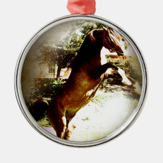 The Bay Colt Silver-Colored Round Ornament