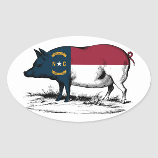 The BBQ State Oval Sticker