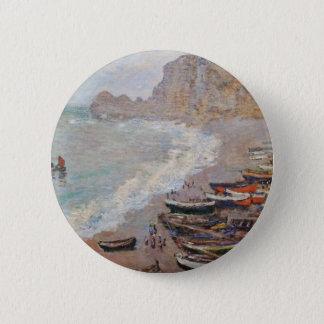 The Beach at Etretat - Claude Monet 2 Inch Round Button