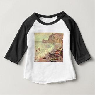 The Beach at Etretat - Claude Monet Baby T-Shirt