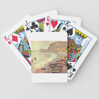 The Beach at Etretat - Claude Monet Bicycle Playing Cards