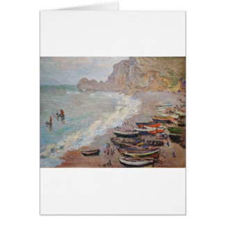 The Beach at Etretat - Claude Monet Card