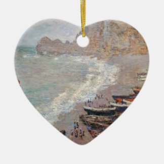 The Beach at Etretat - Claude Monet Ceramic Ornament