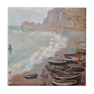The Beach at Etretat - Claude Monet Ceramic Tiles