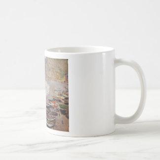 The Beach at Etretat - Claude Monet Coffee Mug