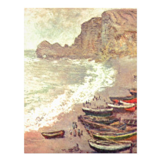The Beach at Etretat - Claude Monet Letterhead