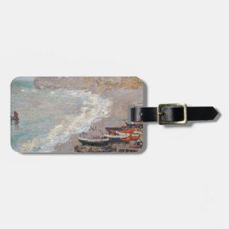 The Beach at Etretat - Claude Monet Luggage Tag