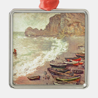 The Beach at Etretat - Claude Monet Metal Ornament